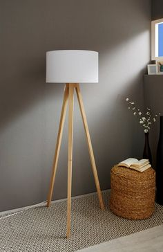 TRIPOD-C12 Stehlampe Eiche SMART Home Bluetooth   Etsy Stairs In Living Room, Living Room Sets, Interior Styling, Interior Decorating, Smart Home, Home Gadgets, Tripod Lamp, Room Lights, Bricolage