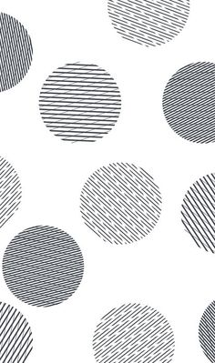 This design is interesting because although it is black and white, each polka dot has a different pattern to add depth to the image.