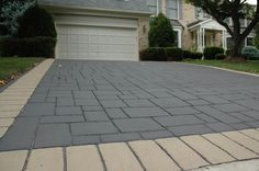 Driveway Impressions decorative stamped asphalt driveways and imprinted asphalt driveways, photos and information Asphalt Driveway, Driveway Ideas, Inspiring Things, Driveways, House Made, Home Reno, Curb Appeal, Front Porch, Home Projects