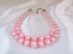 Vintage Retro Moonglow Pink Lucite Bead Double by MemawsTopDrawer, $29.50