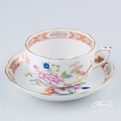 Shanghai Tea Cup and Saucer | Herend