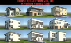 High detailed models of 9 realistic modern single family houses. Suitable for visualizations, advertising renders and other purposes. Included: 2 patio furniture sets and swimming pool. House 3d Model, Family Houses, Patio Furniture Sets, Model Homes, Single Family, Swimming Pools, Home And Family, Advertising, Models