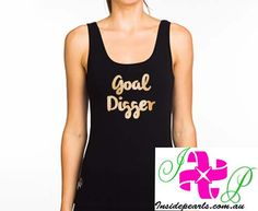 Goal Digger Tank Top Inspirational Shirt. Funny Tank Top Goal Tank Top Motivation Gym wear. Mrs Shirt, Bride Shirts, Bachelorette Shirts, Team Bride, Bridal Gifts, Just Married, Athletic Tank Tops, Trending Outfits, Bridal Shower