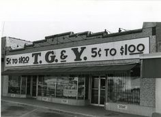 "With the philosophy of ""have what people want at a price they can afford to pay,"" the T.G.& Y. corporation opened its first variety store in Norman, Oklahoma in 1936 and expanded to 930 outlets nationwide by the 1980s.  TG stores were firmly embedded in southern culture as modern-day general stores with a bit of everything, and often called by the moniker, ""Toys, Guns, and YoYos."""