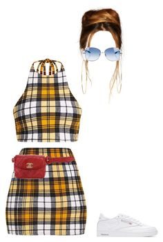 """""""Out in Malibu"""" by nytown ❤ liked on Polyvore featuring Jennifer Meyer Jewelry, Paul Smith, Reebok and Chanel"""