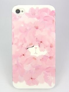 The cat in the flowers iphone case