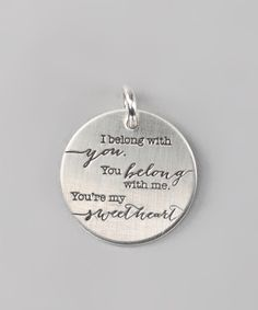 Sterling Silver Expressions 'I Belong' Charm | Daily deals for moms, babies and kids