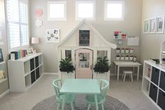 20 Fantastic Kids Playroom Design Ideas – Modern Home Playroom Design, Playroom Decor, Playroom Ideas, Nursery Ideas, Loft Playroom, Small Playroom, Small Kids Playrooms, Playroom Color Scheme, Bonus Room Playroom
