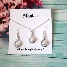 Bridesmaid Jewelry, Bridesmaid Gifts, Wedding Jewelry, Gifts For Wedding Party, Bridal Gifts, Handmade Shop, Etsy Handmade, Gifts For Women, Gifts For Her