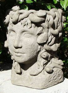 Medieval nights on pinterest gothic garden garden statues and statues - Medusa head planter ...