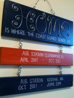 Home is where the Coast Guard sends us.  On my Christmas List!!!