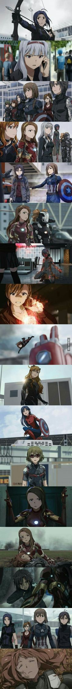 Captain America : Civil War [Anime Version]<<< looks like puella magi madoka