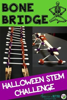 Halloween STEM Challenge: Bone Bridge is an engaging, collaborative, hands-on activity to keep students focused on learning before or after they say trick-or-treat!