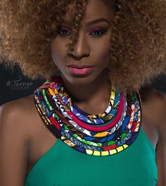 Image result for ladies on multicolor bold necklace