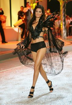 Victoria's Secret Fashion Show: Black Tap Pants and Feathers
