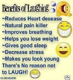 The Benefits of Laughing. It is common sense.