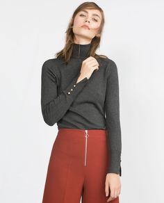 Image 2 of POLO NECK SWEATER from Zara