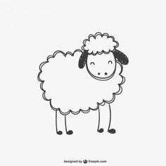 Sheep scribble vector