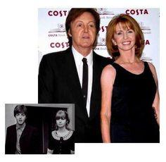 Paul McCartney y Jane Asher muchos años después de terminado el noviazgo