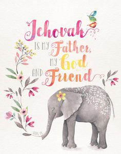 OH, We So so Love Our Father Jehovah, He is Alway's There to help thought thick and thin.I have no idea how others deal with todays problems without Jehovah God Our Dear Merciful Father! Watercolor Pictures, Watercolor Animals, Bible Scriptures, Bible Quotes, Caleb Et Sophia, Pioneer Gifts, Jw Gifts, Spiritual Thoughts, Spiritual Messages