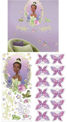 Tiana Princess And The Frog Wall Medallion Decal Wall Sticker Mural Decal Designs At Wall Sticker Outlet