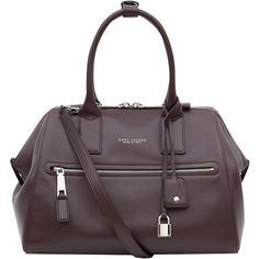 Marc Jacobs Medium Burgundy Incognito Smooth Leather Bag