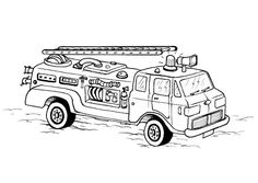 Free Printable Fire Truck Coloring Pages For Kids | Pinterest | Fire ...