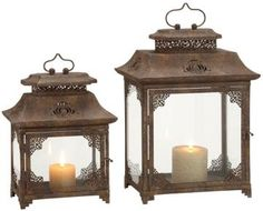 Ambrosia Lantern - Set of 2 - Candles And Candleholders - Home Accents - Home Decor | HomeDecorators.com