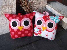 Owl Pillow Set of 2  / Ornament / Smash Cake Topper / Mini Itty Bitty / jp pinkdaisy original Owl Pillow. $25.50, via Etsy.