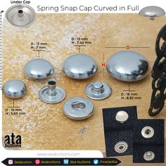 We are pleased to introduce to you our new production of spring snap caps curved in full with total new measurements.  #jeans #jeansbutton #jeansbuttons #snap #prongsnap #prongsnapfastener #prongsnaps #rivet #textileaccessories #springsnapbuttons #buttons #snapbuttons #snapcap
