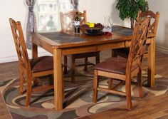 Sedona Extension Dining Table With Slate | American Home | Albuquerque, Santa  Fe, Farmington