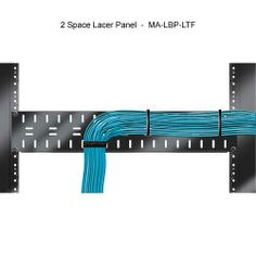 """Middle Atlantic Horizontal Lacer Bars - a simple but effective #CableManagement solution for your #server #rack or cabinet. Standard 19"""" width fits most enclosures and racks. Couple with ties and/or fasteners to keep your cables in check. Learn more at CableOrganizer.com."""