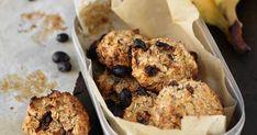 Bananbollar Healthy Snacks, Cereal, Muffin, Tasty, Sweets, Baking, Breakfast, Desserts, Food