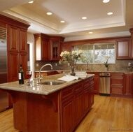 great site with TONS of kitchen pics categorized by color scheme, style, etc