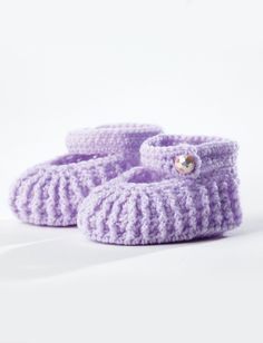 Crochet Stylish mary-jane booties FREE Pattern up to 12 months