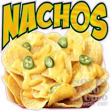 "14"" Nacho Chip Nachos Cheese Concession Trailer Bar Restaurant Food Sign Decal"