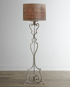 Savona Floor Lamp - traditional - floor lamps - Horchow  floor lamp with printed shade