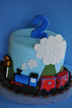 Smaller train cake which could be adapted for a car and animals can be added to scene
