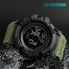 Cool Watches: Hot Offer SKMEI S SHOCK Military Sports Watches Compass Pedometer Calories Male Watch Digital Waterproof Electronic Watches Men Wristwatch Swiss Watches For Men, Automatic Watches For Men, Luxury Watches For Men, G Shock, Tactical Watch, Tactical Pants, Mens Sport Watches, Seiko Watches, Watch Brands