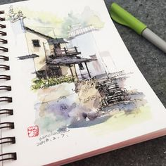 ChenxiaSun (@chenxiasun) в Instagram #aquarell #art #painting #watercolor #watercolour #sketch #paint #drawing #sketching #sketchbook #travelbook #archisketcher #sketchaday #sketchwalker #sketchcollector #traveldiary #topcreator #usk #urbansketch #urbansketchers #скетчбук #скетч #скетчинг #pleinair #aquarelle #watercolorsketch #usk #architecture #painting #illustration