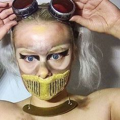 Makeup challenge. Day 54 -  Post Apocalyptic Mechanic. For more facepaint, sfx, makeup, costume and cosplay picture follow @mycharacterdesign on instagram. Makeup: Kristin Sunde. Model: Kristin Sunde.
