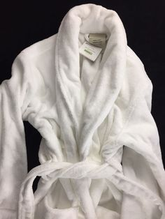 b2a848c7b3d Details about POTTERY BARN CLASSIC TERRY BATH ROBE