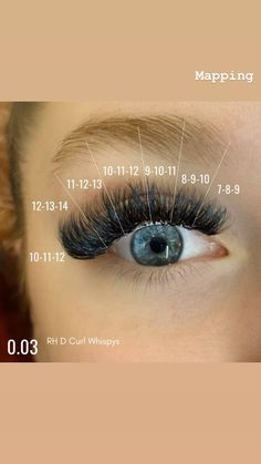 I've broken down the lash map for this style for you, I've used RH Whispy Lashes each row has 3 different lengths to give you a Whispy soft edge which is my favourite 💛  0.03 Whispys D Curl   Insta @rhlashacademy FB Rebecca Hood At The Academy Feather Extensions, Eyelash Extensions Styles, Volume Lash Extensions, Whispy Lashes, Feather Eyelashes, Lash Lounge, Esthetics Room, Eyelash Enhancer, Lash Room