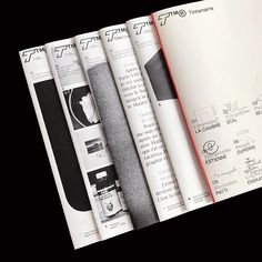 Revue Tintamarre is a free publication showcasing the work of one student every month Layout Design, Print Layout, Text Design, Editorial Layout, Editorial Design, Graphic Design Typography, Graphic Prints, Buch Design, Publication Design