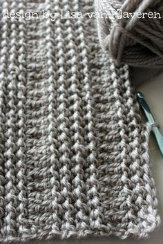 Ravelry: Unbelievable Crocheted Blanket or Scarf pattern by Lisa van Klaveren Crochet Borders, Crochet Stitches Patterns, Knitting Patterns, Crochet Designs, Manta Crochet, Tunisian Crochet, Crochet Scarves, Crochet Hats, Crochet For Beginners Blanket