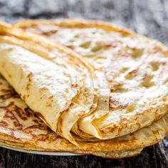 Homemade crepes - Learn how to make crepes from scratch! Serve these with your favorite fruit preserves, nutella, or simply dust them with powdered sugar!