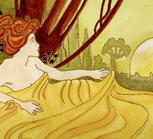 Dawn (after Mucha) by MagsWilliamson