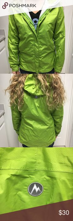 Marmot rain coat Marmot raincoat. GUC. There is some wear on the hands, this is shown. Otherwise excellent condition Marmot Jackets & Coats