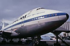 "Pan American World Airways Boeing 747SP-21 N533PA ""Clipper New Horizons"" at the gate, circa late 1970s."