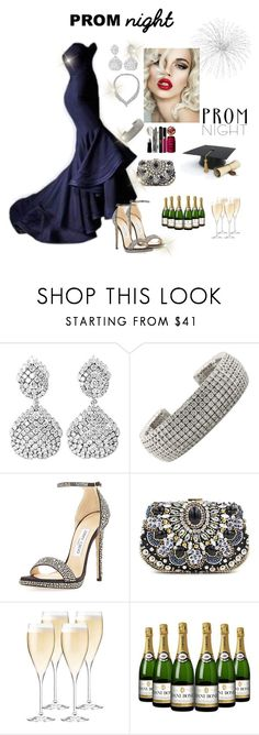 """""""The Perfect Prom Night"""" by daianetavares310 on Polyvore featuring moda, Cartier, Shreve, Crump & Low, Jimmy Choo, Chicnova Fashion, Riedel e PROMNIGHT"""